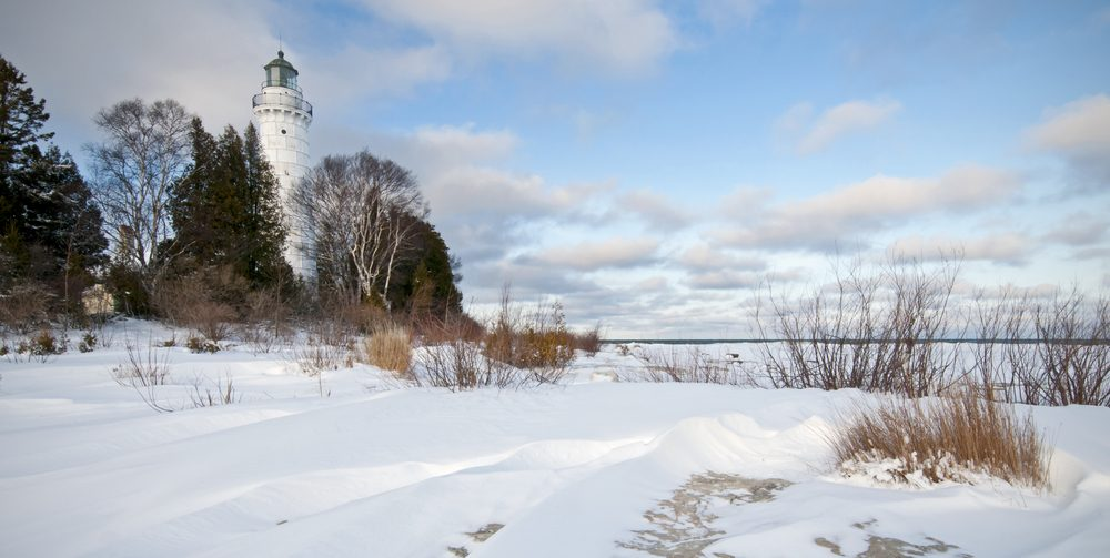 """Cana Island Winter"" Winter at the Cana Island Lighthouse in Door County, Wisconsin."