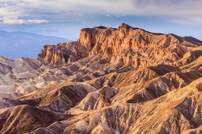 Eroded Mountain Ridges at Zabriskie Point, Death Valley National Park, California, USA