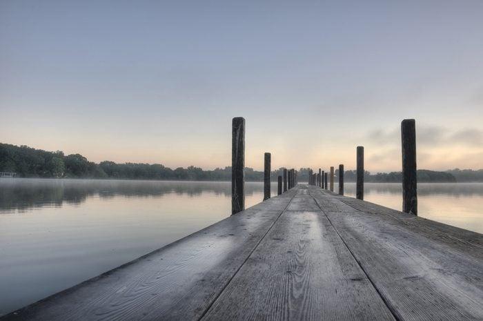 HDR of Early Morning on Lake Okoboji, Iowa.