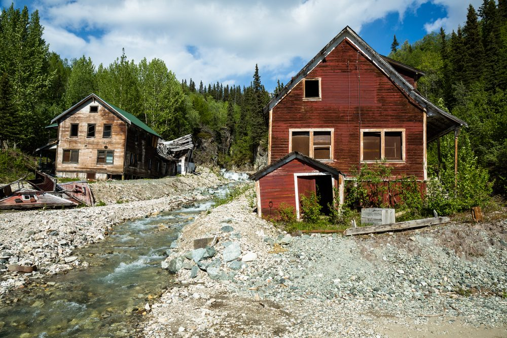 This former mining town was abandoned in 1938 after a majority of the copper and other ore was depleted. Kennicott was the center of 5 mines in the area and a booming town in it's day.