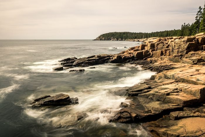 The coastline of Arcadia National Park, Maine, USA.