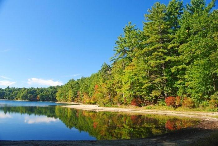 The Walden Pond near Concord, MA.