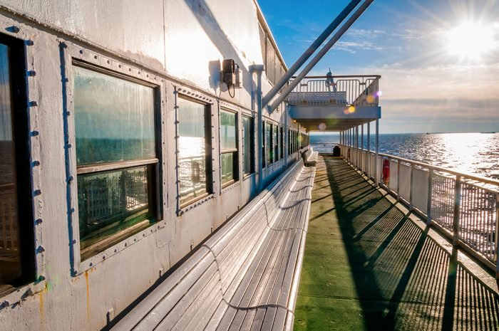Aboard the Cape May -Lewes Ferry, in the Delaware Bay between New Jersey and Delaware.