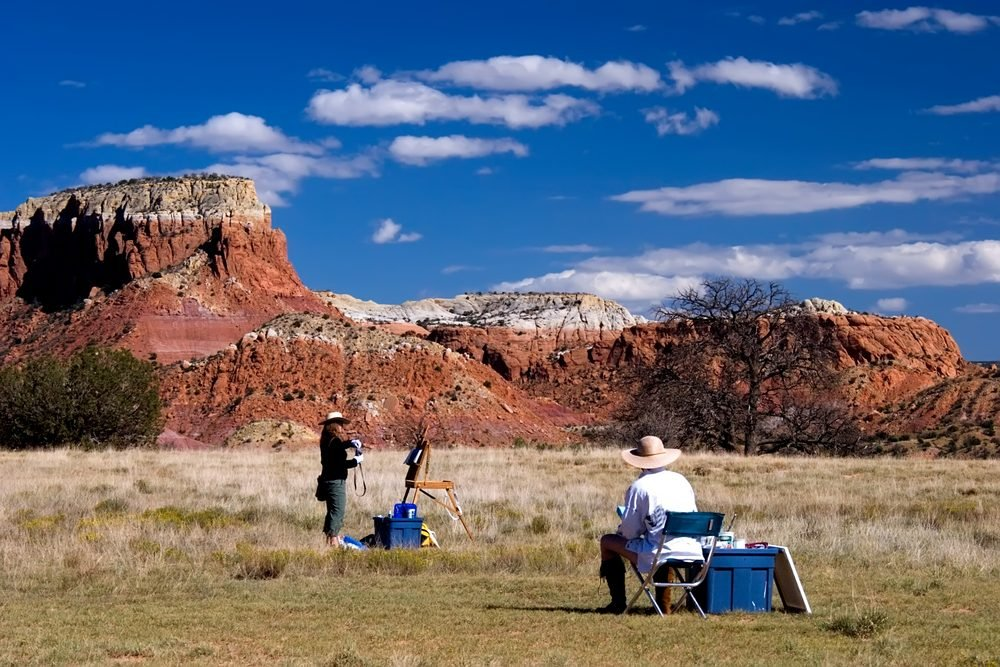 A painter at Ghost Ranch, NM where Georgia O'Keeffe painted.
