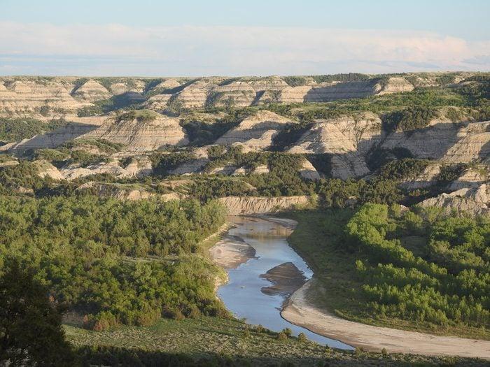 Little Missouri River at Theodore Roosevelt National Park in North Dakota