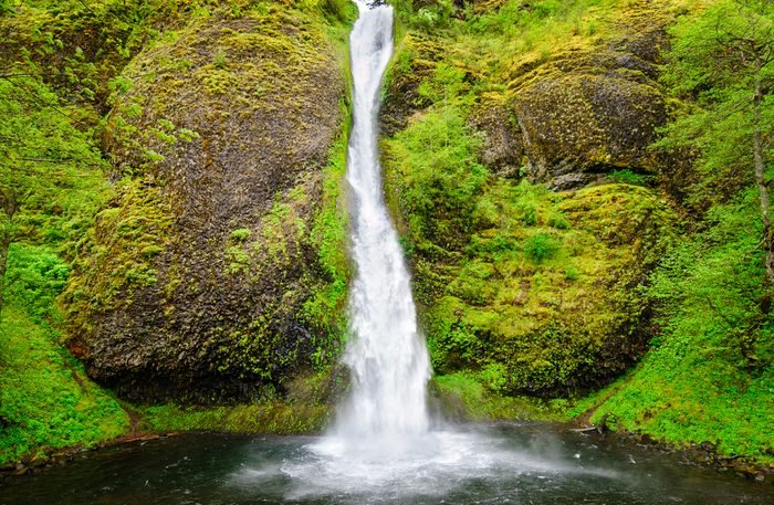 Cascading Waterfall at Columbia, Columbia Gorge