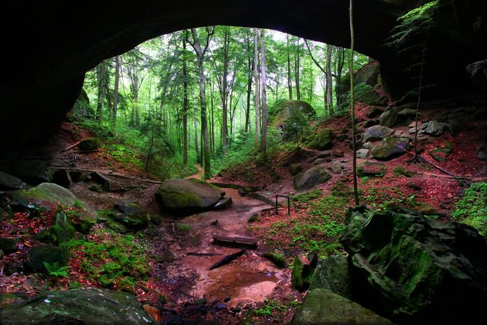 Natural Bridge hidden in the forests of northern Alabama - USA