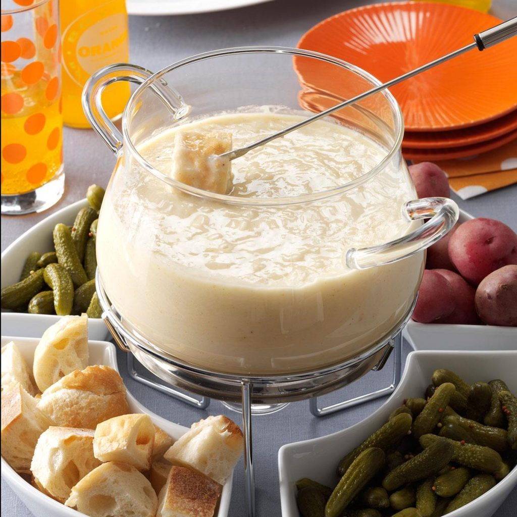 Three-Cheese Fondue