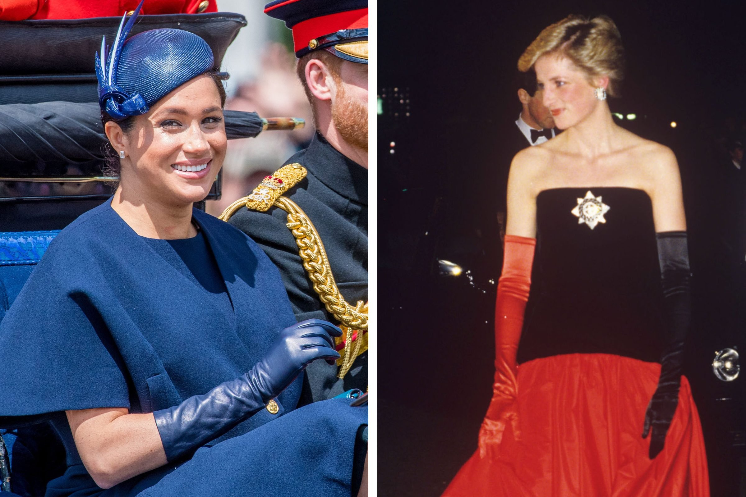 meghan markle and princess diana