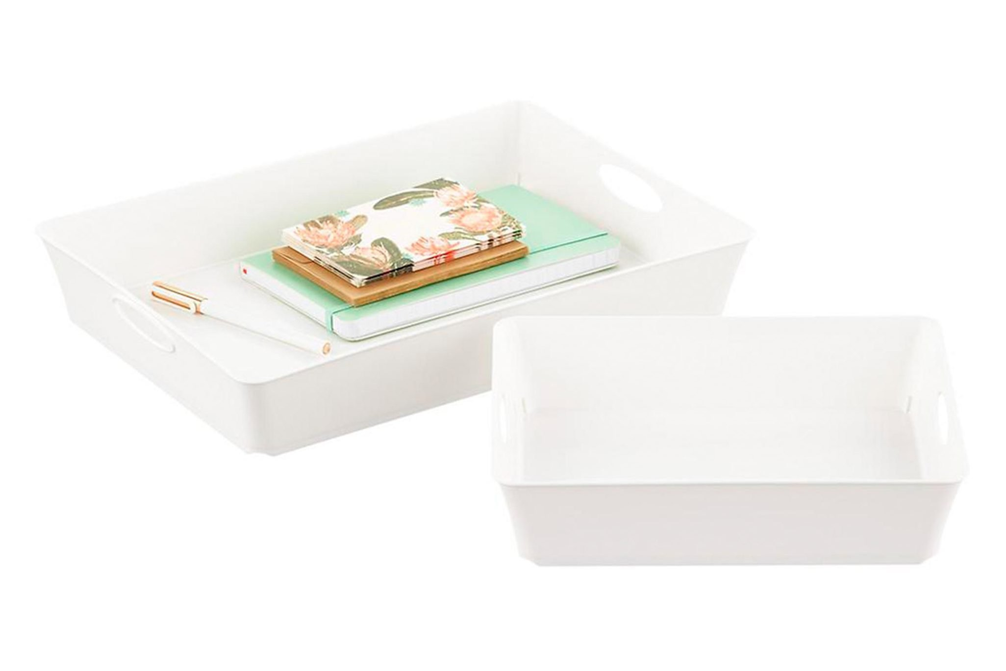 White paper trays
