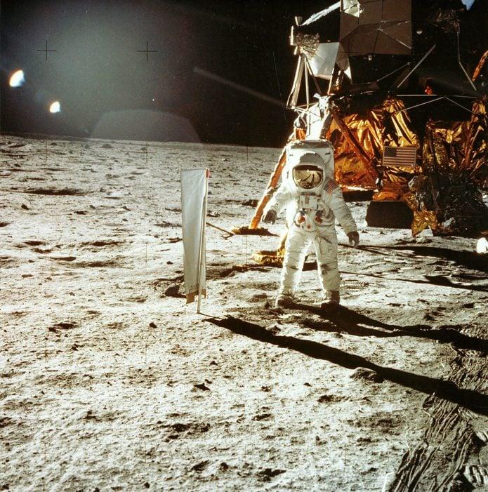 Astronaut Edwin E. (Buzz) Aldrin on the moon