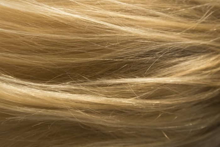Blonde hair texture