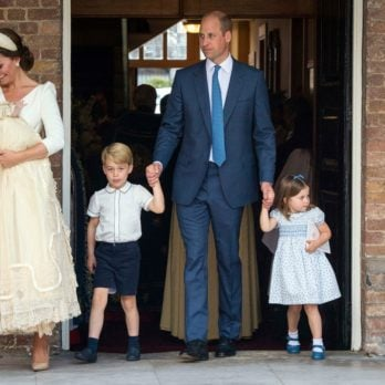 Britain's Prince William and Catherine Duchess of Cambridge with their children