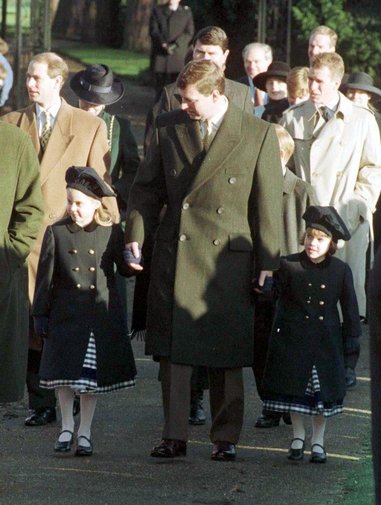 BRITISH ROYALTY AT CHURCH AT SANDRINGHAM AT CHRISTMAS, BRITAIN - DEC 1995