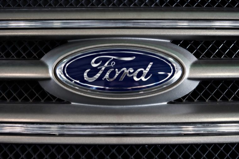 Dallas , Texas - September 21, 2018. the Ford logo on a pickup grill