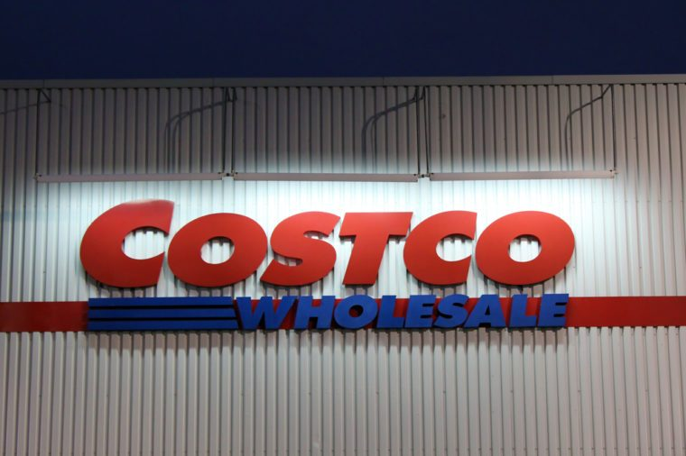 ETOBICOKE, CANADA - DECEMBER 18: Costco Wholesale sign on December 18, 2013 in Etobicoke, Ontario, Canada. Costco operates a chain of membership warehouses, carrying merchandise at lower prices.