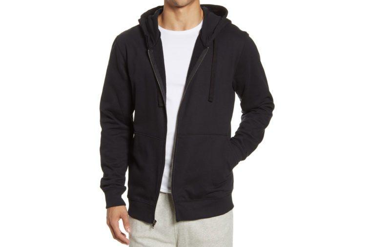 richer poorer zip front hoodie