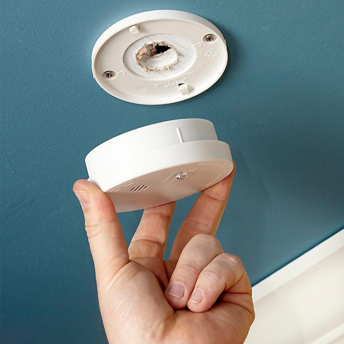 test and replace batteries in smoke detectors