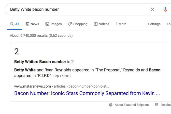 Google: Bacon Number
