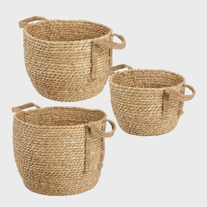 Mdesign Seagrass Woven Nested Storage Baskets