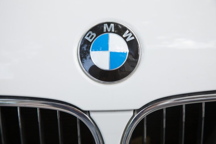 ODESSA, UKRAINE - AUGUST 13, 2017: BMW logo and badge on the car