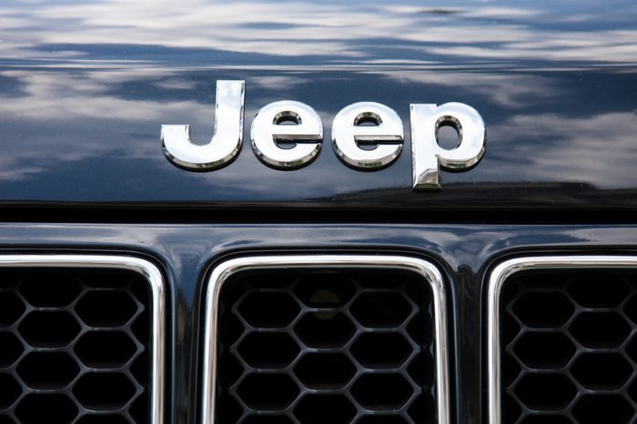 ODESSA, UKRAINE - AUGUST 13, 2017: Jeep auto logo and badge on the car