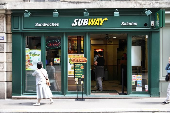 PARIS - JULY 24: Subway fast food on July 24, 2011 in Paris, France. At the end of 2010 Subway surpassed McDonald's as global fast food leader with 33,749 restaurants.