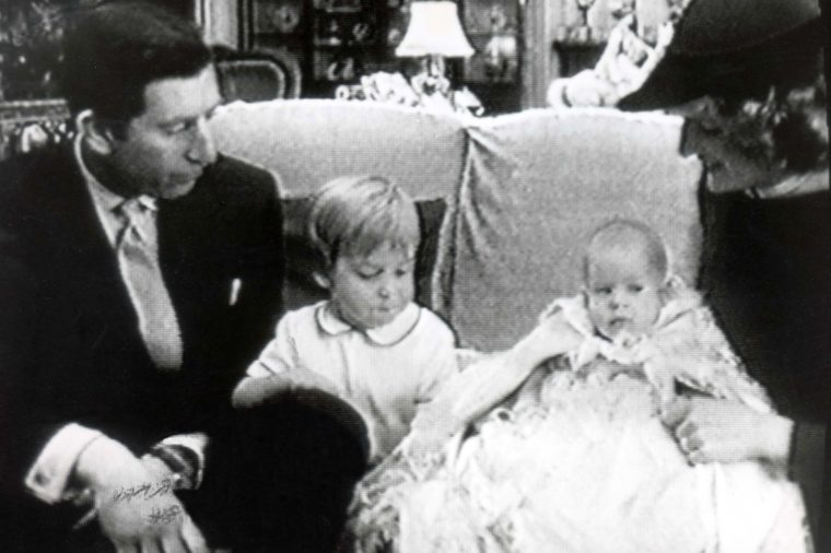 Prince Harry 1984 . 25 December 1984. Prince Harry On Television.. A Picture Taken From Bbc Tv Of The Prince And Princess Of Wales And Their Sons Prince William And Baby Prince Harry When They Appeared On The Television During The Queen''s Christmas