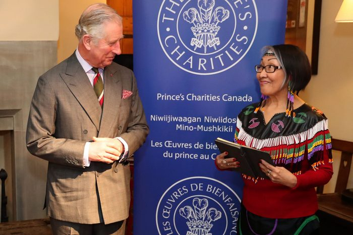 Prince of Wales meets members of the Language Committee of Canada's national organization of the Inuit, Wales, UK - 16 Dec 2016