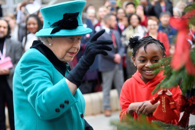 Queen Elizabeth II visit to Coram's London campus, UK - 05 Dec 2018