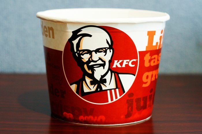 Vilnius/Lithuania May 14, 2014 A Bucket of KFC Chicken