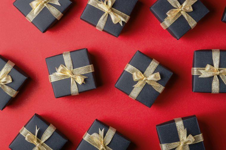 holiday gifts lay flat