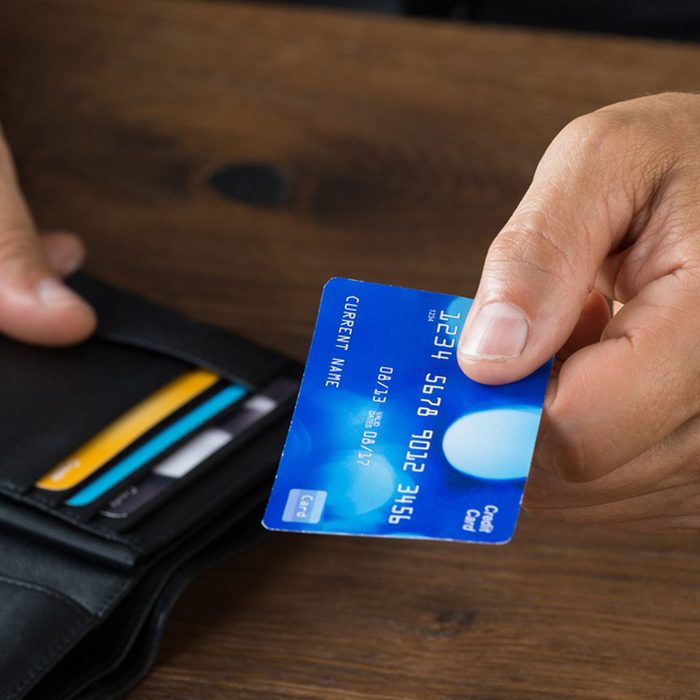 wallet money pay with credit card