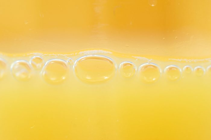 Macro orange juice can be used for background