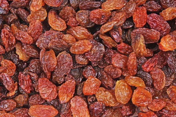 Raisins as background Grape Raisin texture.