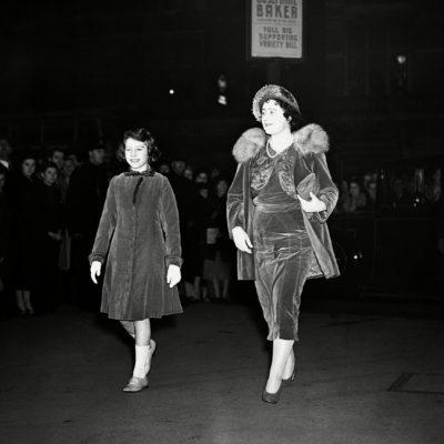 England London Queen Elizabeth and Princess Elizabeth at Matinee, London