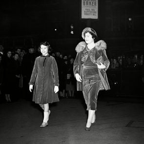 England London Queen Elizabeth and Princess Elizabeth at Matinee, London