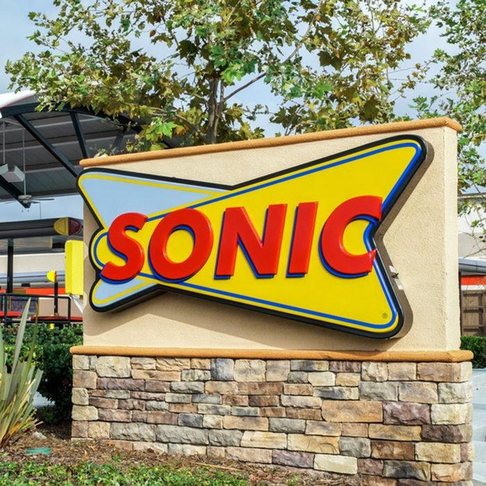 Sonic Drive-In Restaurant exterior. Sonic Corp. is an American drive-in fast-food restaurant chain