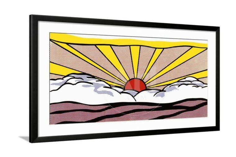 sunrise art print by roy lichetnstein