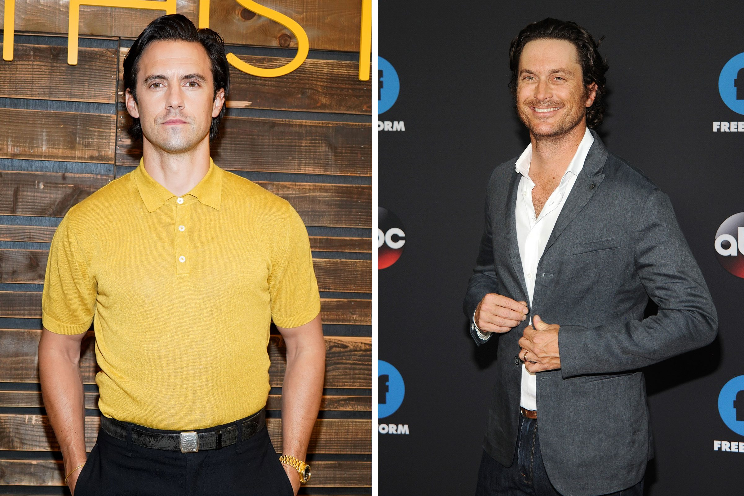 This is us Milo Ventimiglia next to oliver hudson