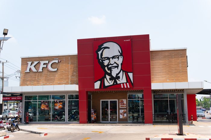 Ubonrachathanee - Apr 19 2018 : KFC - Kentucky Fried Chicken in Thailand, Corporation is the world's largest chain of fried chicken restaurants, during the day hours