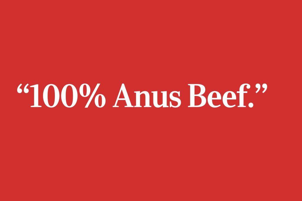 anus beef