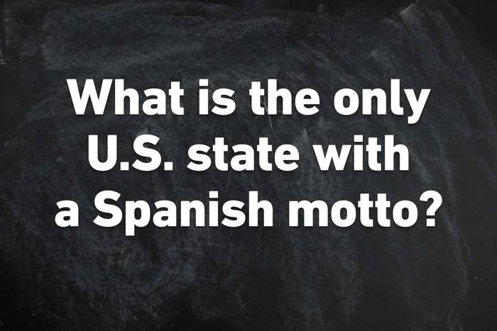 US state with spanish motto