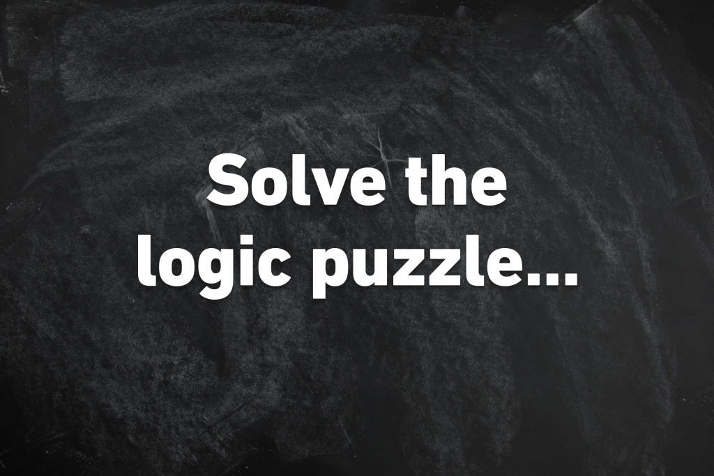 solve the logic puzzle