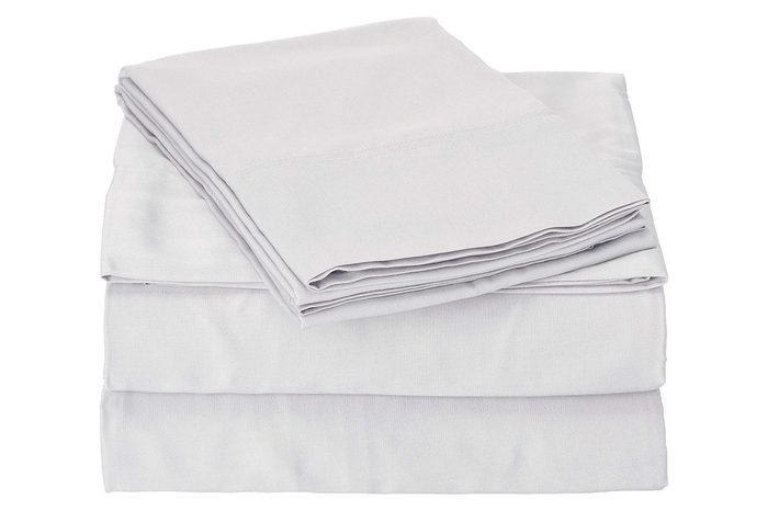 Brooklyn Bedding 300 TC Rayon from Bamboo Sheet Set Queen, Silver