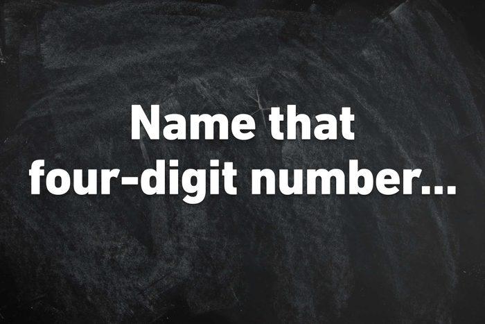four digit number
