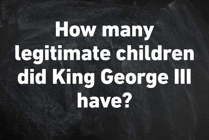 legitimate children king george III