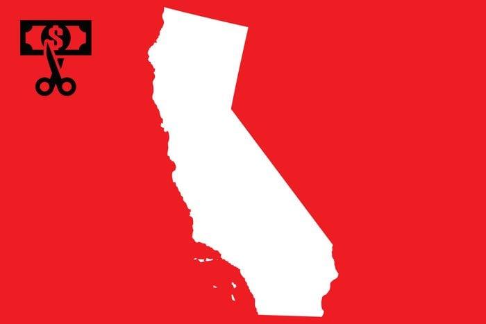worst state taxes california