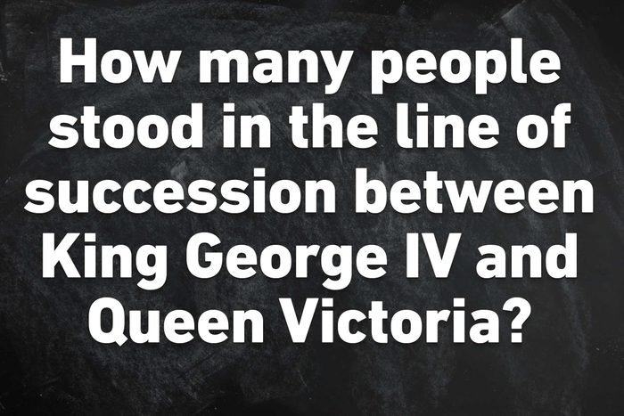 succession between king george IV and queen victoria