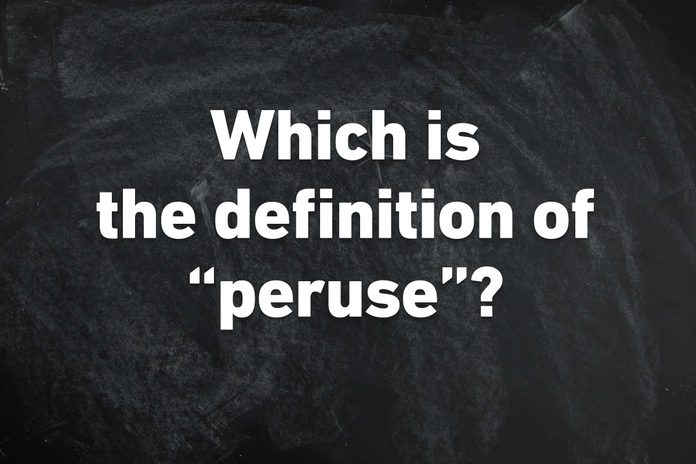 peruse definition